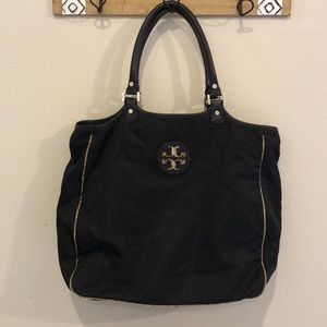 VGUC Tory Burch Nylon w/ Tan Python Hobo!